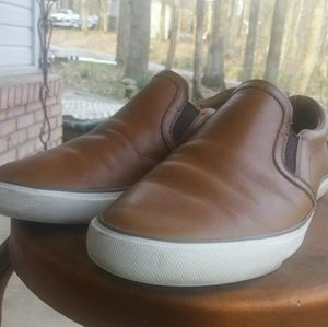 Coach Shoes - Coach men's sz 9.5 leather slip ons sneakers
